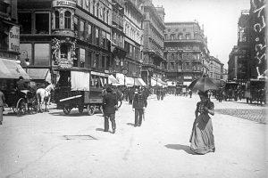 (1897/ÖNB/Wikipedia) Der Platz lag, als der Bau des Doms begann, noch außerhalb des ...