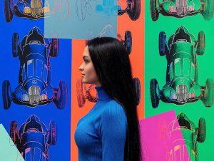 Albertina. Part 1 ⠀ 1. Me, Andy Warhol 2. Andy Warhol 3. Claude ...