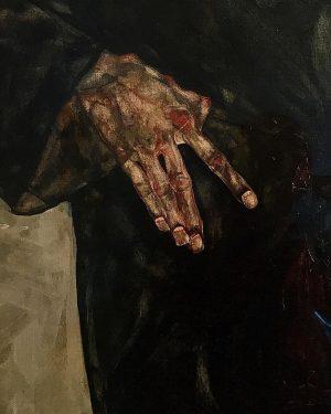 Egon Schiele. Love the way he draws hands. ⠀ #Schiele #egonschiele Leopold Museum