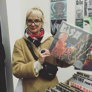 OMG. There's a Gisa Record in BRUCE'S GLOOMY RECORD STORE at Georg Kargl Box curated by @jakoblenaknebl...