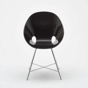 "🖤 Black elegance at it's best ⚫ Bowl Chair by Edelhard ""Eddi"" Harlis, Düsseldorf, 1954 | Execution:..."