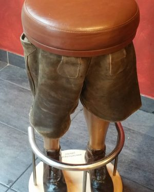 #lederhosen bar stool ftw 2015 Leberkas Pepi