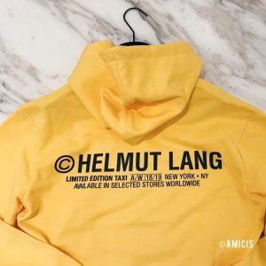 AMICIS men: Taxi yellow by Helmut Lang #AMICISvienna #HelmutLang #amicis @helmutlang #taxi #sweater #fashion #mode #designer #HL...