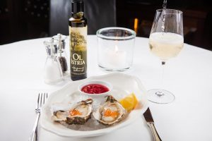 A meal without wine is called breakfast. #restaurant #fishrestaurant #seafood #oysters #wine #wineanddine #winelover #foodie #foodblogger #olive...