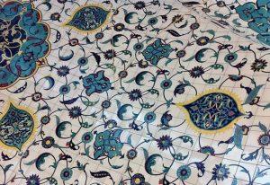 Painted-tiles ceiling, Corbaci Cafe&Restaurant, MuseumsQuartier, 7th District. Corbaci