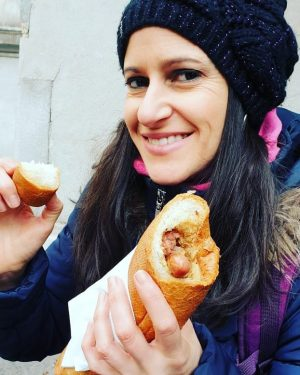 Deliciosos los hot dog de #bitzinger en #viena con mostaza de la buena Bitzinger