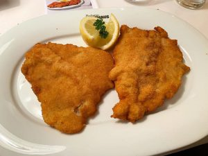 simple yet delicious, their wiener schnitzel. the breading's nice and fluffy and the ...