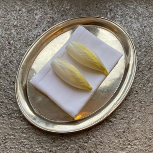 FINGA FOOD Chicorée filled with old Emmentaler cheese foam Mraz und Sohn