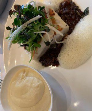 #docoalbertina #steinbutt #selleriepürree #lachsnigiri #sushi #foodporn #foodvienna #foodblogger #foodstagram DO & CO Albertina