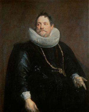 Jan van Montfort von Anthonis van Dyck (1599 Antwerpen - 1641 London) Kunsthistorisches Museum Wien, Gemäldegalerie, Kabinett...