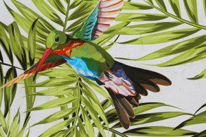 Zur Abwechslung von diesen grauen Tagen mal ein bunter Vogel! 🦜 #erinnerungenandensommer #rooftopbar #sonnenschirm #kolibri #bunt #wannkommtdersommer...