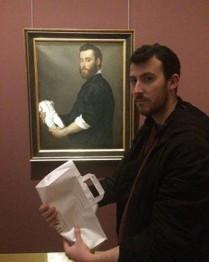 Děkuji typkovi za obraz #ahoj #čau #museum #doppelganger #pórek #leek #arthoe #nazdar #vienna ...