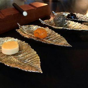 wrapped in gold. Restaurant Konstantin Filippou