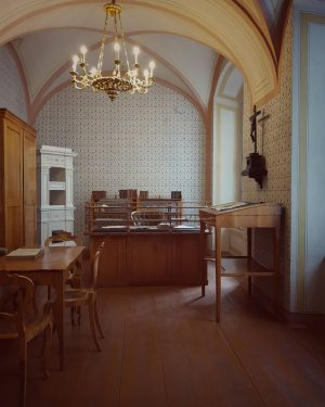 I really liked the museum of literature! The first picture shows the office of the Austrian poet...