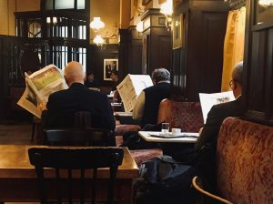 Vienna, not only in this fine silent café in which I sneaked as ...
