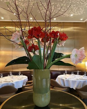 Fresh flowers in our restaurant... a wonderful way to boost the mood right ...