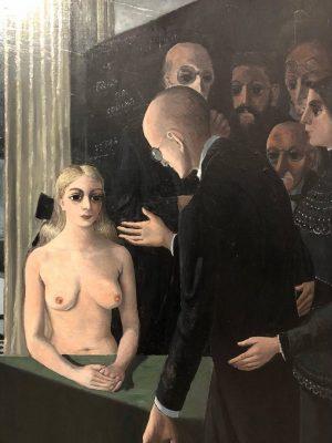 SAVANTS • ☠️🖤☠️• L'école des savants, Paul Delvaux. 1958 • A nocturnal fascination for this painting, and...