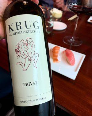 Impressive red wine! Weingut Krug - Privat 🍇 Cabernet Sauvignon BlackBerries, almond, chocolate, prunes #zumwohl #niederösterreich #weingut...