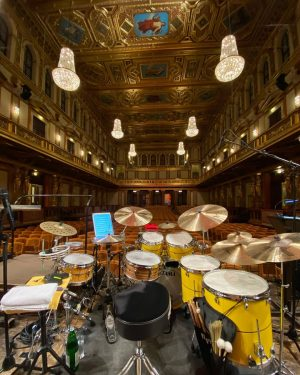 Peter Erskine Drums Kit in the most beautiful venue in the world. #tama #tamadrumsofficial #zildjian #zildjiancompany #vicfirth...
