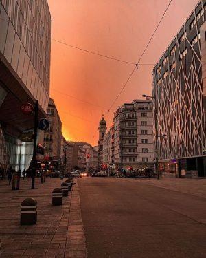 Wunderschöne Morgenstimmung über Wien-Mitte. 😍 🌇 Wusstet ihr, dass der 3. Bezirk zwar nur 2 % der...