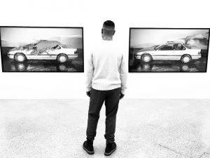 🔲👤🔳 #kikkoselecao_k9 #wien #vienna #austria #museum #museo #mumok #art #arte #artemoderna #car #painting #quadro #bnw #bnwphotography #blackandwhite...