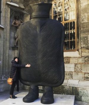 @erwinwurm 4m tall big mother infront St Stephans church , Vienna #erwinwurm @koeniggalerie ...