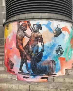 @artis.love for #europaeischevolksschule #goldschlagstrasse #klimaschutzpreis #1150 #westbehnhof #schablone #stencil #pochoir * Vienna / Austria * #famiglia_vienna #famigliavienna...