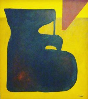 Lajos Kassák Composition Black-Yellow 1958 mumok - Museum moderner Kunst Wien