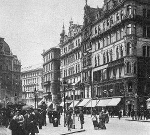 (um 1900/Wikipedia) Das in den 1890er Jahren eröffnete Warenhaus Rothberger zählte zu den zentralen Orten des Konsums...