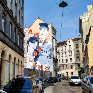 Eines der vielen Wandgemälde in Wien vom Calle-Libre-Festival 🎨😍 Welche Street Art in Wien gefällt euch am...