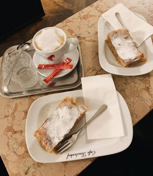 I wanna Apfelstrudel every day🤍 Cafe Tirolerhof
