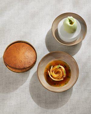 barley malt soufflé with quince, physalis & pericon #inspiredbynature #foodofaustria #theworlds50best #lesgrandestablesdumonde #heinzreitbauer #michelinguide #steirereck Steirereck im...