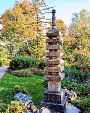 Pagoda, Japanese garden, 19th District. Setagayapark