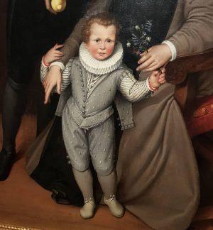 Detaljbild från familjeporträtt anno 1585. Barnporträtt gör egentligen Bronzino bäst men denna från ...