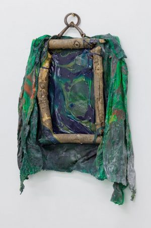 Anne Schmidt – Untitled, 62x46 cm, 2020, Wood, latex, silk color, metal, work part of MICHELANGELO, Anne's...