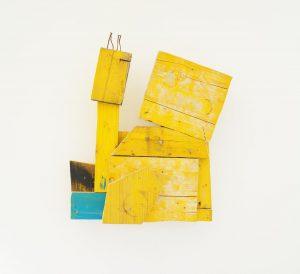 In conversation. 2018 #yellowuniverse #wallpiece #ernstkoslitsch #contemporarysculpture #artcouple #artcollector #arttocollect #viennacontemporary #raummitlicht #downtownvienna