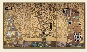 """Byzantine mosaics were a key influence on his fêted """"Golden Phase"""".⠀ Klimt rarely travelled, but it is..."""
