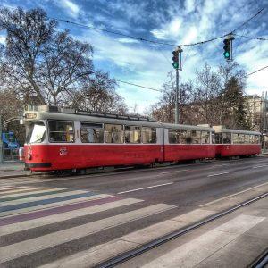Ich habe leider nicht oft die Gelegenheit, beim Rathaus eine Straßenbahn zu fotografieren, wenn grad so wenig...