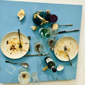 '...of bread, wine, cars, security and peace' #danielspoerri #whathowandforwhom Kunsthalle Wien