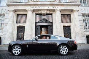 Millionaire w/ @floriankoschat —————————————— #shooting #man #modern #ceo #selfmade #millionaire #rollsroyce #wraith #hyatt #investmentbanker Park Hyatt Vienna