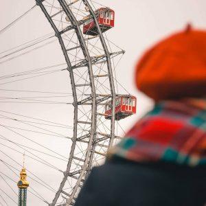 Le Prater de Vienne 🥰. Vous apercevez ici la grande roue emblématique de ...