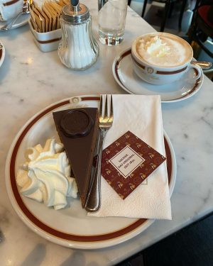 "Sacher-torte from the Hotel Sacher, Vienna, Austria 🇦🇹 ""Oh, that he may not ..."