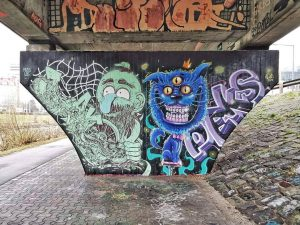 Donaukanal, 1190 Artists: @jakobderbruder | @peks_the_pekser www.viennamurals.at Book / Online Map / Blog ...