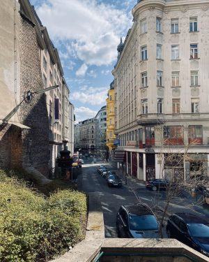 Streets of Vienna's Bermuda Triangle, known for its party night life and hedonistic ...