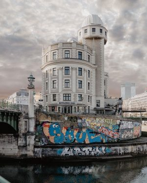 Art Nouveau meets streetart. The Danube Canal is Vienna's biggest legal graffiti zone ...