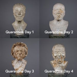 How are you doing in quarantine? These is our take on the #QuarantineChallenge. The sculptor Franz Xaver...