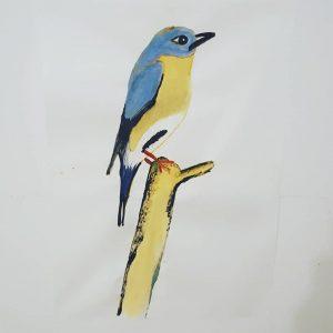 Hab 1 Vogel gemalt um das Loch in der Wand zu verdecken