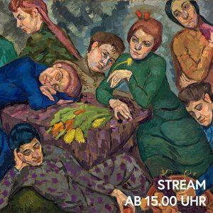 Wir träumen uns zur Kunst. Kommt mit! Heute betrachten wir Helene Funkes Gemälde