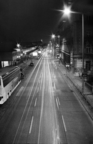 cold nights, city lights ⠀ #fromthearchives #blackandwhite #longexposure #vienna ⠀ ⠀ ⠀ #lighttrails ...