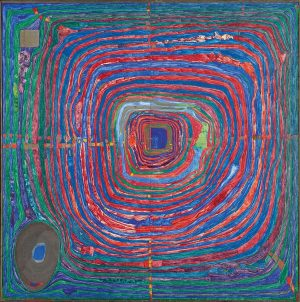 #ArtWorkOfTheDay: Friedensreich Hundertwasser, Der große Weg, 1955 The reason you may encounter